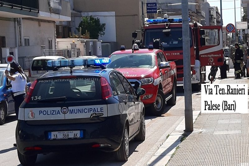 Ultim'ora: Incendio in casa a Palese