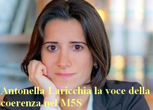 M5S ,Antonella Laricchia la voce della coerenza